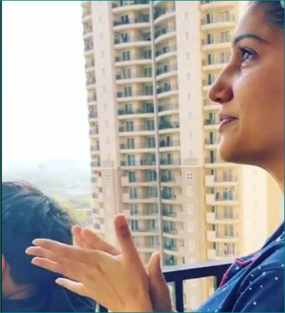 Video: Sapna Chaudhary starts crying while saluting corona commandos