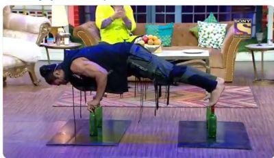 कपिल के शो में 4 बोतल पर विद्युत जामवाल ने किए पुश अप्स, देखकर खड़ी को गई अर्चना पुरण सिंह