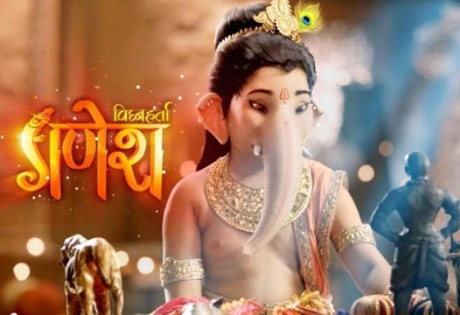Preparations for battle scenes of Karthikey and Sursai in Vighnaharta Ganesha show