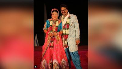 शादी के पांच महीने पुरे होने पर भारती ने दी अपने पति को बधाई