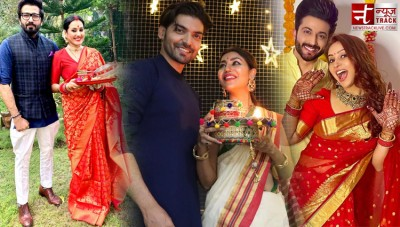 TV Couples celebrates festival of Karvachauth in this way, See pics