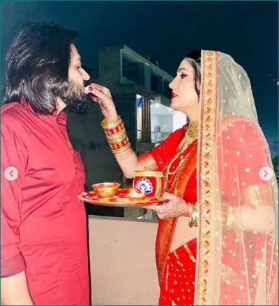 Sapna Choudhary celebrated her husband with her husband, looked very beautiful