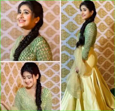 Naira looked very beautiful and elegant in a golden lehenga, See photos