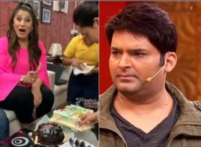 Seeing a knife in Archana's hand, Kapil said something like this...