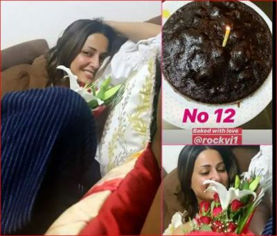 Happy Birthday Hina: Boyfriend Rocky Jaiswal made a cake for Hina Khan with his own hands