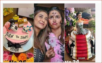 Hina cut 25 cakes on her birthday, party with 'Kasauti...' star cast