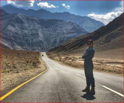 Rubina Dilaik is enjoying with her husband in Ladakh