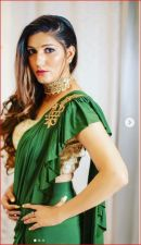 Sapna Chaudhary set Instagram on fire in a green sari; see her picture here!
