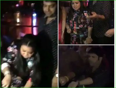 Kapil, Bharti and Sumona were seen dancing fiercely at the success party of their show