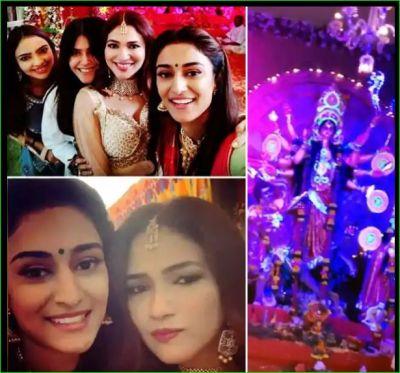 Ekta Kapoor,  Riddhima Pandit and Erica celebrates Durga Pooja