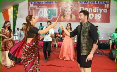 Stars of 'Meri Hanikarak Biwi' enjoy Dandiya fiercely