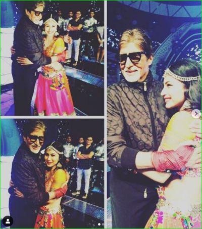 अमिताभ के गले लगकर टीवी की नागिन मौनी रॉय ने दी जन्मदिन की बधाई