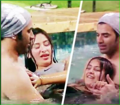 Paras was seen romancing with Mahira and Shahnaz in the swimming pool, see pics
