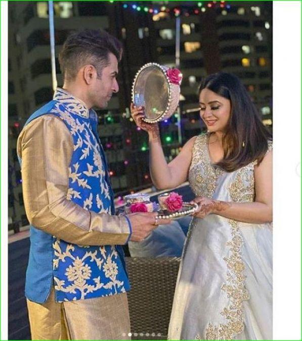 अपने पति संग बहुत खूबसूरत अंदाज में मनाया माहि विज ने करवाचौथ