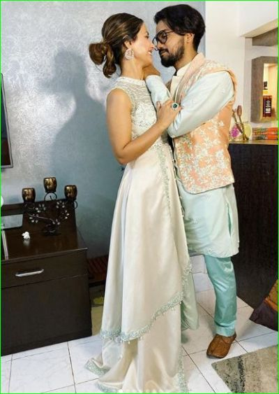 Being romantic, Hina Khan celebrates Diwali with her boyfriend