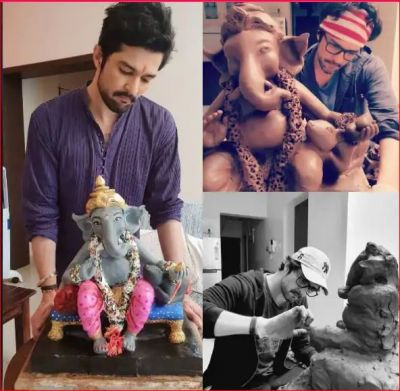 This TV actor welcomes eco-friendly Ganesh at his home