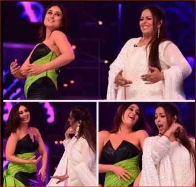 Geeta Kapoor dances with Kareena on the sets of Dance India Dance 7