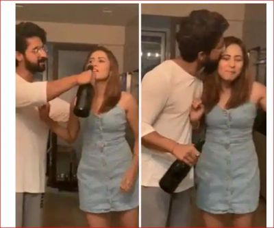 Ravi Dubey sets fire on wife Sargun's birthday, video goes viral