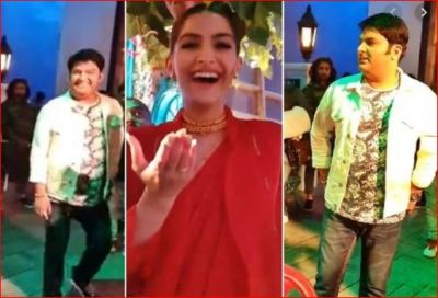 Video: Backstage video of Sonam Kapoor and Kapil Sharma is going viral