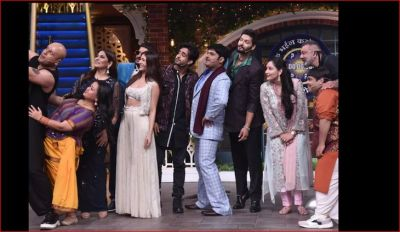 Sanju Baba reaches Kapil's show with his wife, pictures going viral
