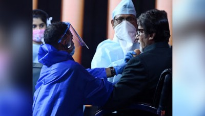 Big B shares beautiful pictures from the set of KBC