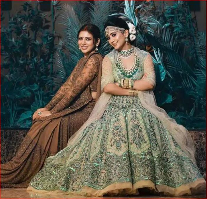Another gorgeous lady seen with Shivangi in a bridal photoshoot, fans go crazy