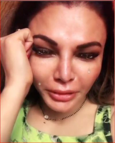 VIDEO: Rakhi Sawant shared a video, crying like this for husband Ritesh