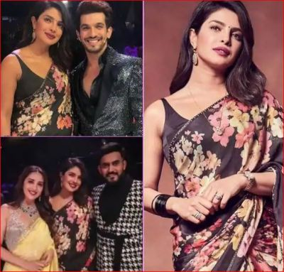 Priyanka arrives on the set of 'Dance Deewane' to promote 'The Sky Is Pink', looks pretty in black saree