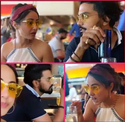 Boyfriend Rocky Jaiswal took Hina on a date, see cute photos