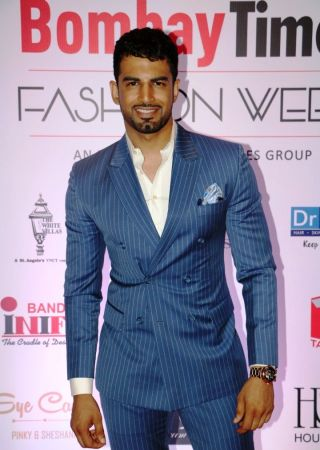 Upen Patel spotted as a guest at the Bombay Times Fashion Week