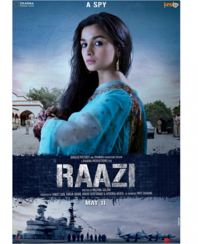 Alia Bhatt in a deadly spy look in the new poster of 'Raazi'