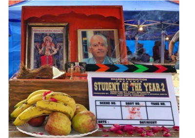 Lights.. camera..action! Student Of The Year 2 goes on floors