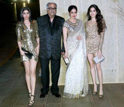 Boney Kapoor and Janhvi release the tears of gratitude over Sridevi's win