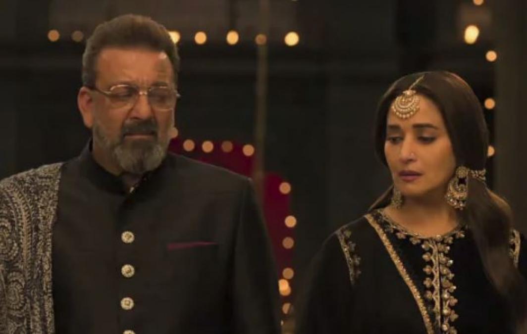 Sanjay Dutt brought his kids Shahraan and Iqra to meet Madhuri Dixit