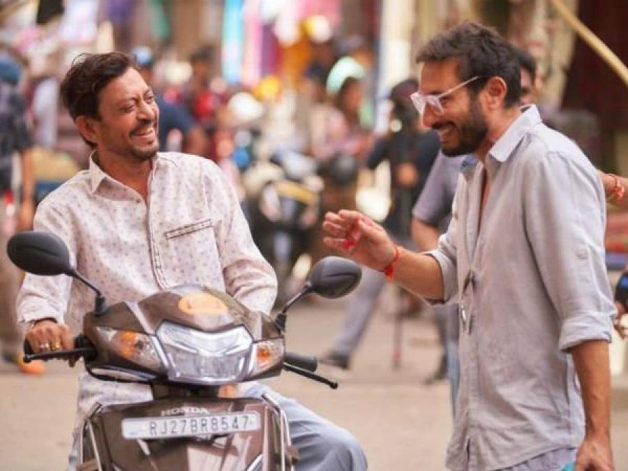 Irrfan Khan shares a hearty laugh with Homi Adajania, check it out here