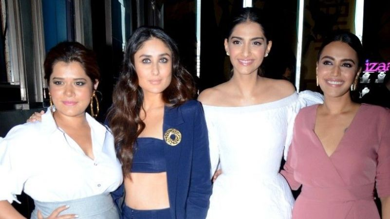 Veere Di Wedding Outfits.Pictures Veere Di Wedding Girls Boost The Hotness At Trailer