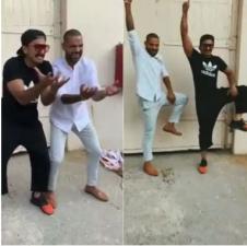 Ranveer Singh shakes leg with Shikhar Dhawan on Khalibali, check it out here