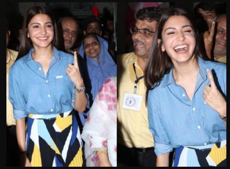 Bollywood actress Anushka Sharma got a pleasant surprise in polling booth; shares her experience