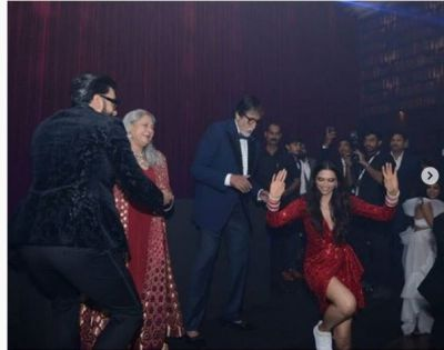 See inside pics: Deepika Padukone and Ranveer Singh danced with the Bachchan family