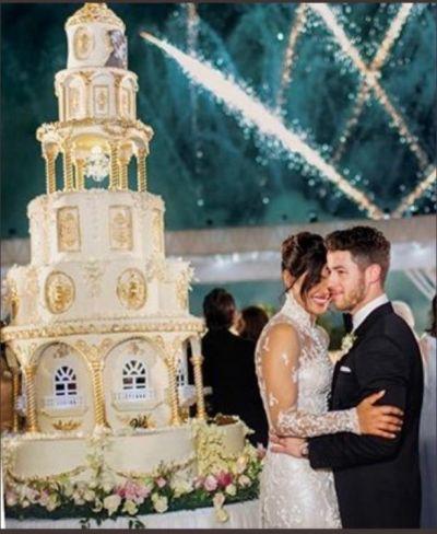 Watch Priyanka Chopra Nick Jonas  cut  6 tier, 18 feet wedding cake
