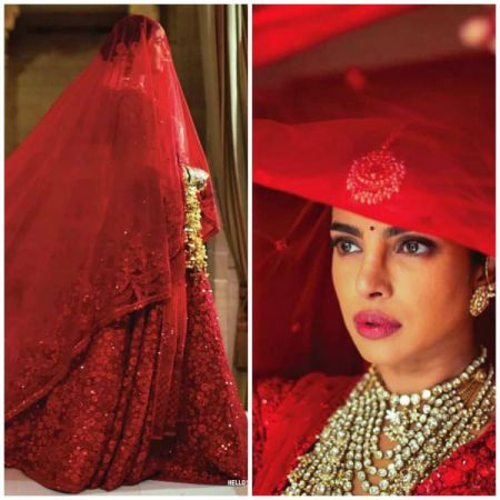 Pics: When Priyanka Chopra says Laal Dupatta Ud Gaya Re .., from her Hindu wedding ceremony