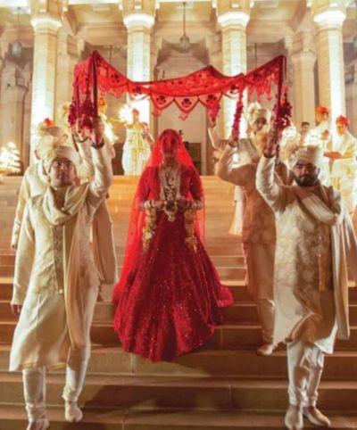 NICKYANKA wedding: See Pic, Priyanka Chopra walking under the phoolon ki chadar with her brothers