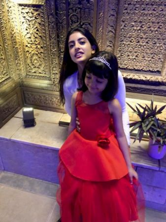 Watch: Aishwarya Rai Bachchan and Abhishek Bachchan's daughter Aaradhya Bachchan celebrates big sister Navya Nanda's b'day