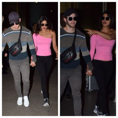 See Pics- Priyanka Chopra and Nick Jonas return to Mumbai after their Oman honeymoon