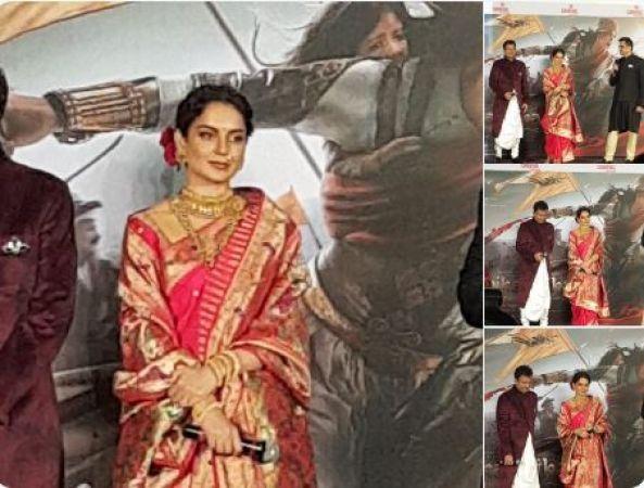 SEE PICS: Kangana Ranaut looks royal in the perfect warrior queen avatar at Manikarnika Trailer launch