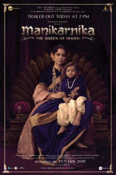 Check out Manikarnika's new Poster, Kangana Ranaut portrays the protective mother shade