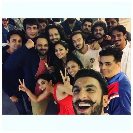 Photos- Deepika Padukone and Ranveer Singh watch Simmba, Karan Johar and Rohit Shetty join