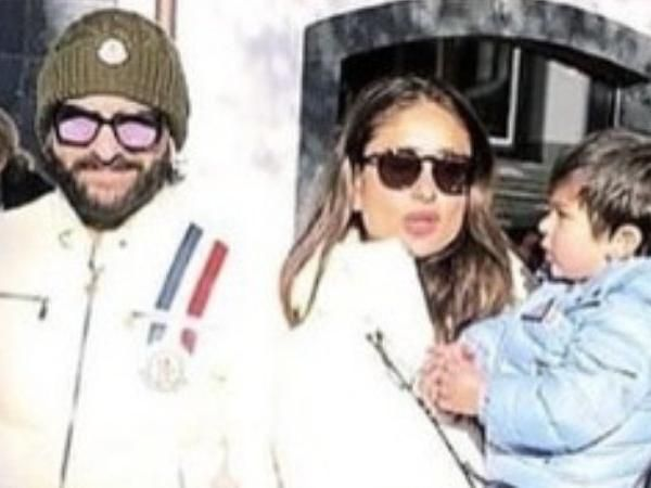 See pics -Taimur Ali Khan enjoys Gstaad chill with parents Kareena Kapoor, Saif Ali Khan