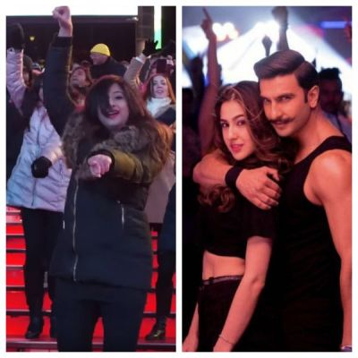 Watch Simmba makes pride at Times Square: New Yorkers  dance in a flash mob rendition of Aankh Marey  hitting the internet