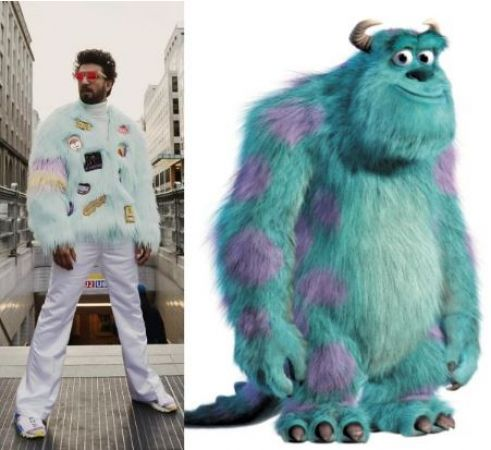 Netizens compare Ranveer Singh's new dress to Sullivan from Monsters Inc, check it out here